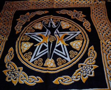 Pentagram Goddess Altar Cloth