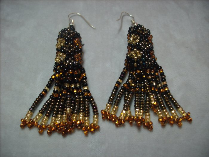Gold Beaded Earrings ER-1