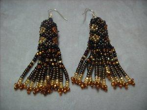 Gold Beaded Earrings ER-1