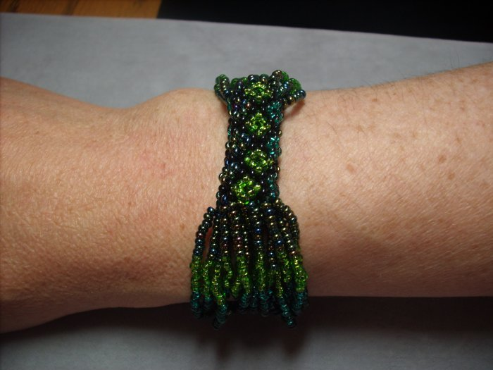 Green & Teal Beaded Bracelet BR-10