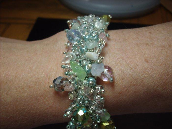Sea Foam Green Beaded Bracelet BR-2