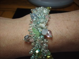 Sea Foam Green Beaded Bracelet BR-2