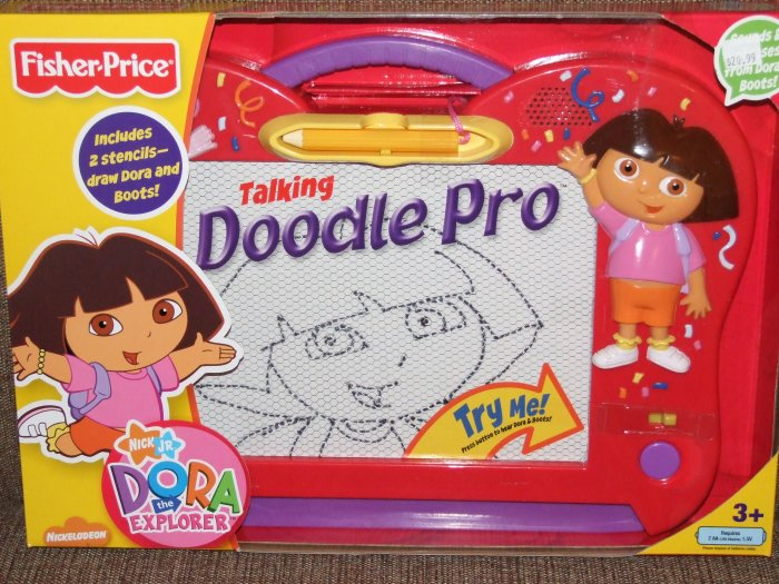 FISHER PRICE TALKING DORA THE EXPLORER DOODLE PRO