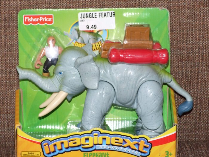 FISHER PRICE IMAGINEXT JUNGLE FEATURE ANIMALS: ELEPHANT
