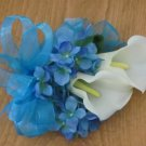 Double Calla Lilly Corsage with Hydrangea 1003Nw