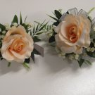 Ruffled Rose Prom Set with wrist Corsage and Boutonniere