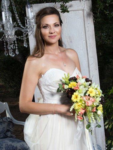 """Wildflower Bridal Bouquet 11"""" Round    Wedding Flowers"""
