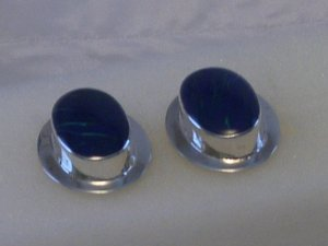 Sterling Silver 925 Earring with Azurite Inlay