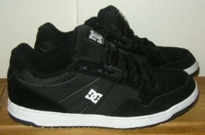 DCSHOES DC SHOES Agent Black Skater Shoes Mens 8 NWOT