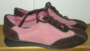 AEROSOLES GRAM CRACKER Two-tone Suede Shoes Womens 7.5