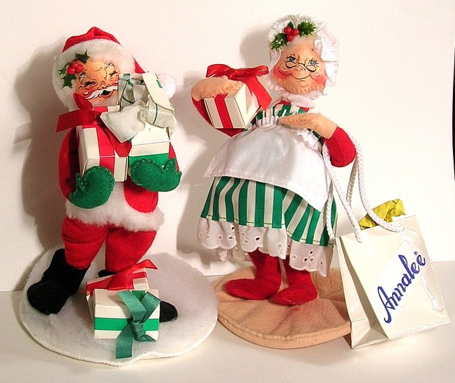 Annalee MR And MRS SANTA CLAUS Gifts Shopping Bag 93/95