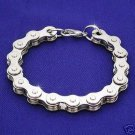 Chrome Motorcycle Bike Chain Bracelet - 9""