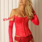 Lingerie RED TIGHT CINCH STRAPLESS HOURGLASS CORSET 40