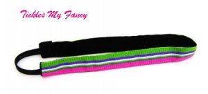 Exercise Non Slip Fashion Headband Pink Green Stripe
