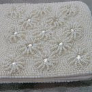 Vintage Seed Pearl and Mirror Vintage Dressy Wallet Beaded