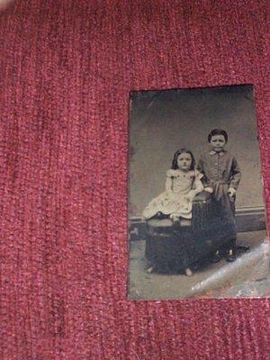 Boy & Girl-tintype