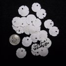 "24 Tiny Sand Dollars 3/4"" - 1"" - FREE ship!"