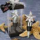 Starfish Wine Bottlestopper - Silver Colored - Gift box - Tropical / Beach / Coastal - FREE ship!