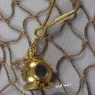 Brass Diving Helmet Keychain - NAUTICAL / MARITIME - FREE ship!