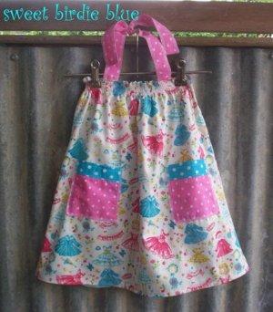 sweet birdie blue Smock Halter dress TOP size AUS 4 5 6 7