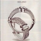 2001 DiModolo Milan Earrings and Ring with Diamonds Ad