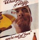 1960s Schlitz Milwaukee Brewery Beer Advertisement