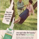 1960s Salem Menthol Fresh Premium Length Cigarette Ad