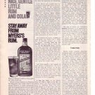 1960s Myers Rum and Cola Advertisement