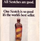 1960s Johnnie Walker Red Scotch Whisky Whiskey Advert