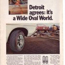1960s Firestone Safe Tire Detroit Wide Oval World Ad