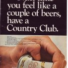 1960s Country Club Malt Liquor Beer Advertisement