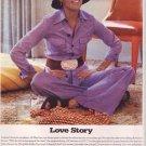2001 Ali Mac Graw Love Story Flashback Ad