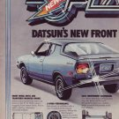1976 ICEAC Datsun Front Wheel Drive F10  two page Ad