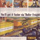 1950 Timken Tapered Roller Bearings Advertisement