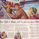 1950 TWA Trans World Airline Air Advertisement ICEAC
