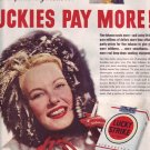 1950 Lucky Strike Cigarettes ICEAC Advertisement