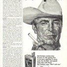1960 Bull Durham Slo Poke Extra Size Cigarette Advertis
