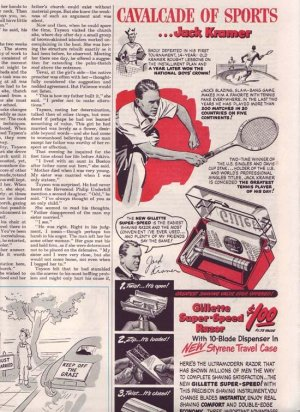 1950 Gillette Super Speed Razor Advertisement