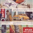 1950 Atlas Tires Batteries Accessories Advertisement