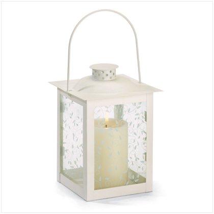 Ivory Glass Lantern-large patio lighting