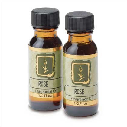 Ying-Yang Oil Warmer, Oil Burner, & Fragrance Oils-rose S/2