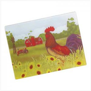 Country Rooster cutting board country kitchen accents