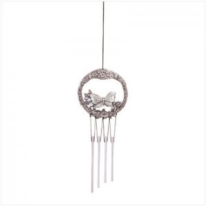 Pewter butter fly Wind chime