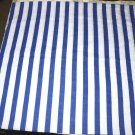 handmade vintage standard bed pillow case nautical white blue stripe soft