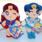 2 Sailor Moon Mars Mercury plush doll Banpresto stuffed toy Japan Banpresto UFO