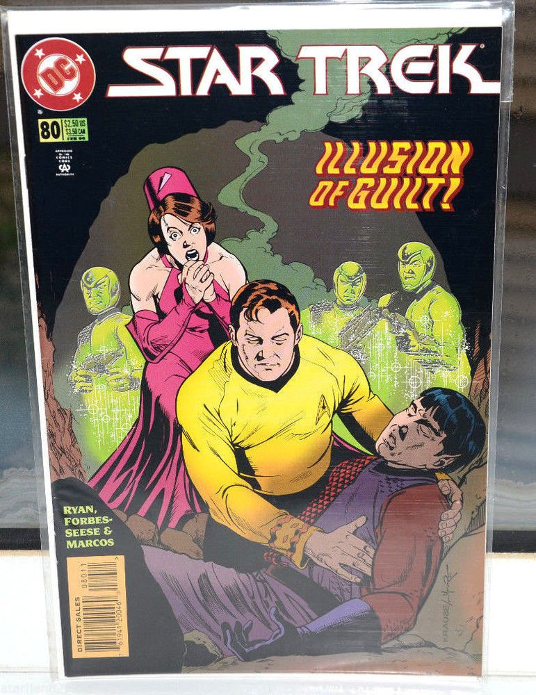 EUC Star Trek DC Comic Book 80 Feb 96 collectible vintage Illusion of Guilt!
