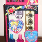 NEW NIB Sailor Moon S Manicure Jewellery Set Necklace Nail polish Bandai Japan