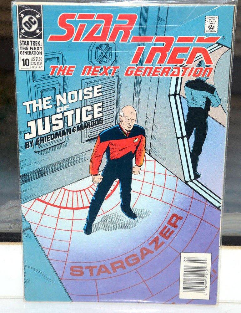 EUC Star Trek The Next Generation DC Comic Book 10 Jul 90 The Noise of Justice