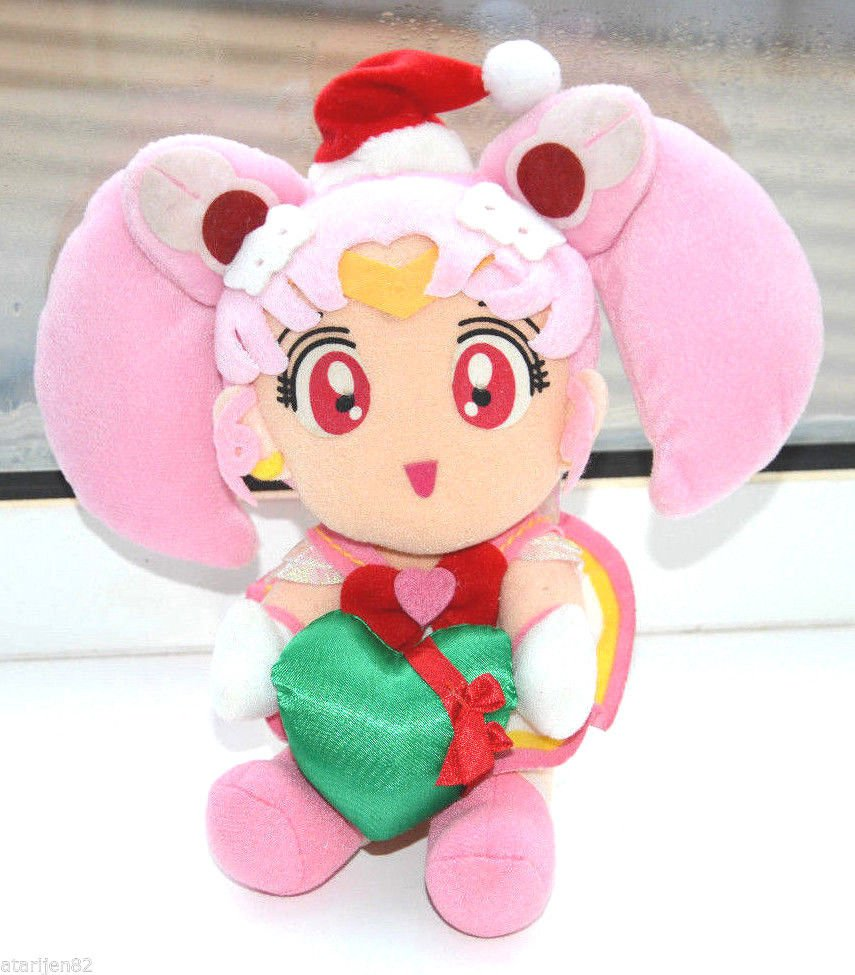 Sailor Moon 90s Chibiusa Christmas Chibimoon chibi Rini plush doll stuffed toy