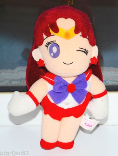 Sailor Moon wink eye Mars toy figure doll stuffed plush plushie Japan Banpresto